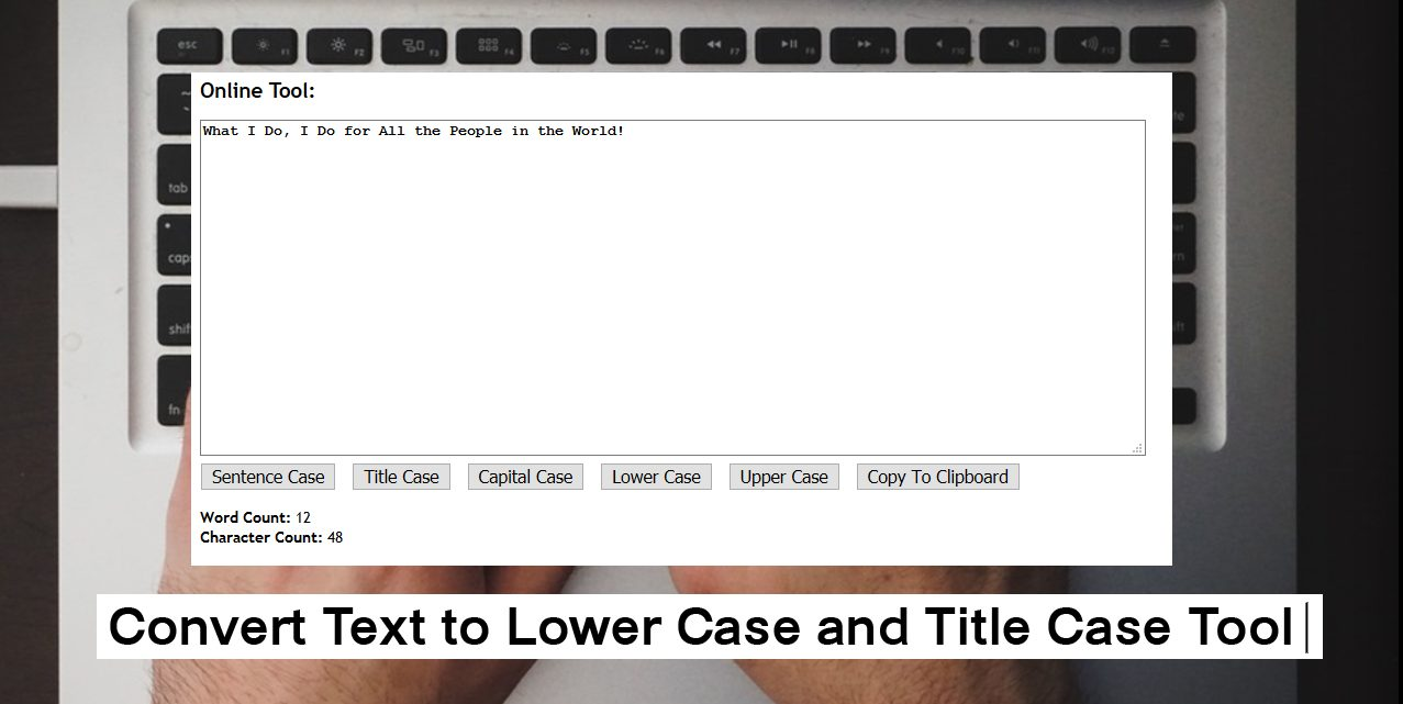 lowercase title and sentence case converter tool